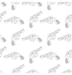 Revolvers as seamless pattern vector