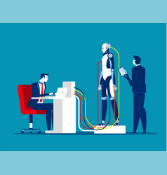 robotics and technology concept business robot vector image