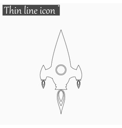 Rocket icon Style thin line vector image