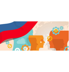 Russia concept of thinking growing innovation vector