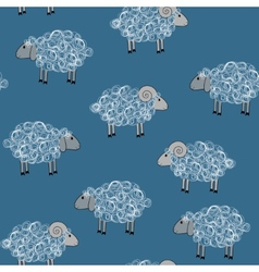 Seamless pattern with sheeps vector
