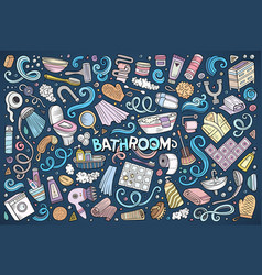 set of bathroom objects vector image