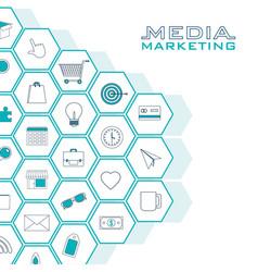 Set of digital marketin icons vector
