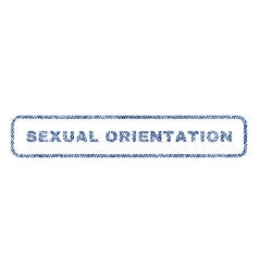 sexual orientation textile stamp vector image