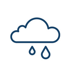 simple icon wet and rainy weather with rain vector image
