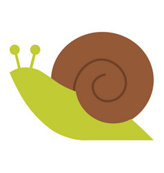 snail icon flat design vector image