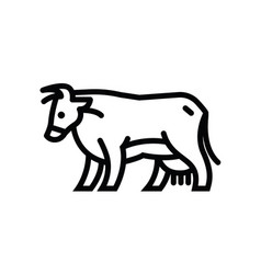 Stylized drawing of cow vector