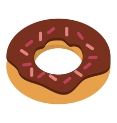 sweet donut sweet dessert icon vector image