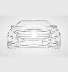 The model sports a premium sedan vector