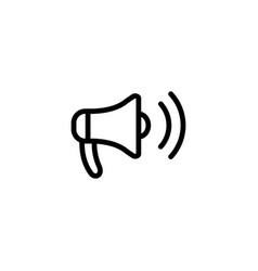 Thin line megaphone icon on white background vector
