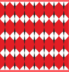Tile white red and grey pattern vector