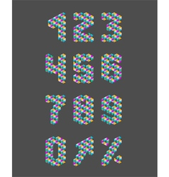 Triangle pattern numbers set vector image