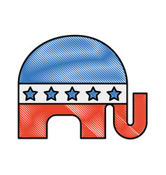usa elephant symbol icon vector image