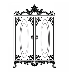 Vintage Baroque Rich Wardrobe vector