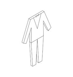 Wedding tuxedo icon isometric 3d style vector