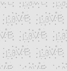 word love print pattern for fabric postcard vector image