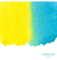 yellow and blue watercolor squarer background vector image