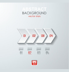 abstract white paper arrow infographics with vector image vector image