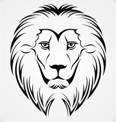 Lion Head Tattoo Design vector image vector image