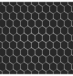 Monochromatic honeycomb seamless pattern vector image vector image