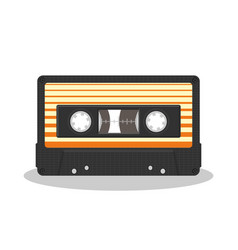 old audio cassette isolated on a white background vector image