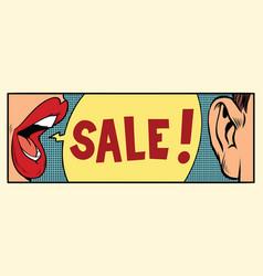 rumors about a sale pop art concept vector image