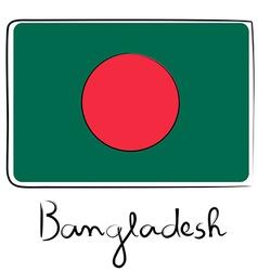 Bangladesh flag doodle vector image