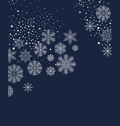 christmas background with snow vector image vector image