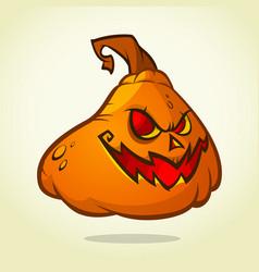cute pumpkin head cartoon halloween vector image vector image