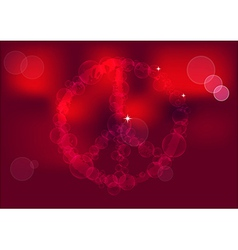 Peace sign background vector image