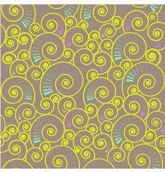 seamless spiral pattern vector image vector image
