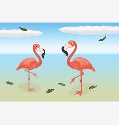 Stoic flamingos vector image vector image