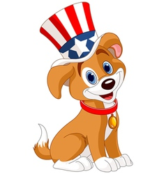 Fourth of July puppy vector image vector image