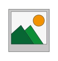 instant photo icon vector image