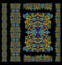 psychedelic ornament element vector image vector image