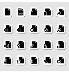 Documents Icons Set as Labels vector image vector image