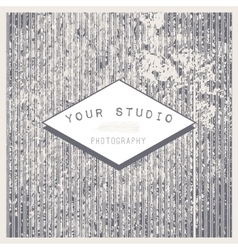 Grunge vintage texture Photo frame with vector image
