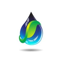 Natural Water Drop vector image vector image
