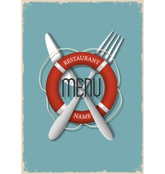 Retro Menu design for seafood restaurant variation vector image vector image