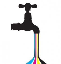 tap CMYK vector image
