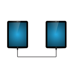 technology future tablet connect vector image