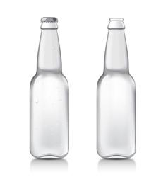 Transparent realistic bottle vector image