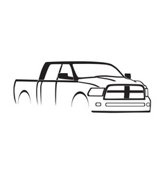 4th gen ram mega cab silhouette vector image