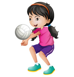 A female volleyball player vector