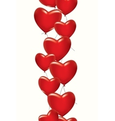 A lot of red hearts vector
