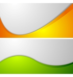 Abstract wavy corporate banners vector