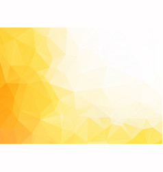 abstract yellow white triangles background vector image