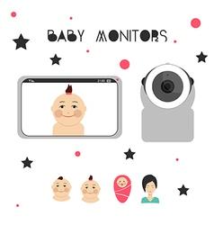 Baby monitors design element 2 vector image