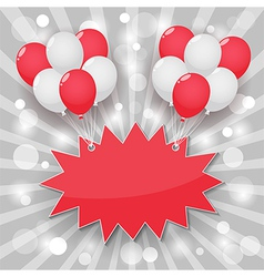 balloon starburst background vector image vector image