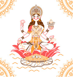 banner laxmi indian vector image